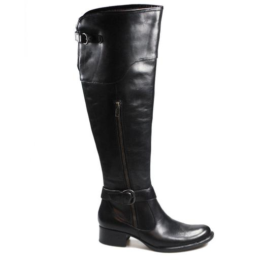 Crown by Brn Leather Over The Knee Tall Black Boots Image 4