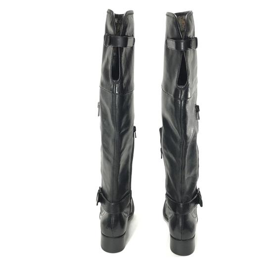 Crown by Brn Leather Over The Knee Tall Black Boots Image 5