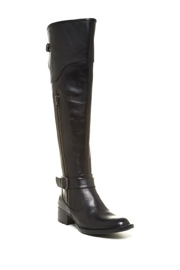 Crown by Brn Leather Over The Knee Tall Black Boots Image 6