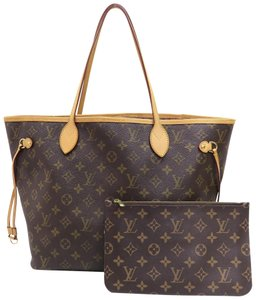 Louis Vuitton Lv Neverfull Canvas Mm Shoulder Bag