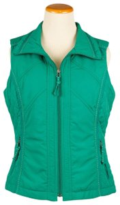 Coldwater Creek Quilted Sides Zipper Pockets Vest
