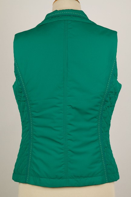 Coldwater Creek Quilted Sides Zipper Pockets Vest Image 2