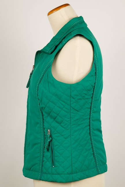 Coldwater Creek Quilted Sides Zipper Pockets Vest Image 4