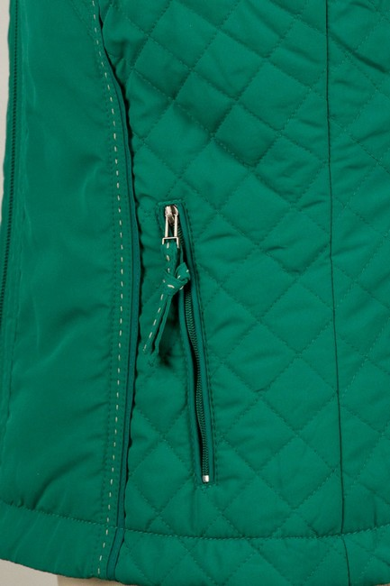 Coldwater Creek Quilted Sides Zipper Pockets Vest Image 5