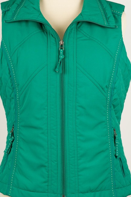 Coldwater Creek Quilted Sides Zipper Pockets Vest Image 6