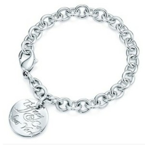 Tiffany & Co. Retired Notes round tag link bracelet