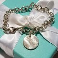 Tiffany & Co. Retired Notes round tag link bracelet Image 1