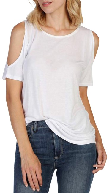 Item - Optic White Tamsin Cold Shoulder T-shirt. Tee Shirt Size 4 (S)