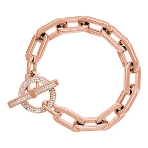 Michael Kors Michael Kors MKJ4865791 Rose Gold Pave Crystals Chain Bracelet NEW!