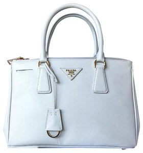 d817b1d630e7 Prada Double Lux Saffiano Zip Galliera Cream Leather Tote - Tradesy