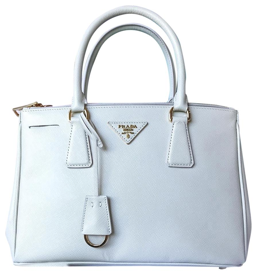 1b4bf252ca99 Prada Saffiano Leather Double Zip Galliera Tote in Cream Image 0 ...