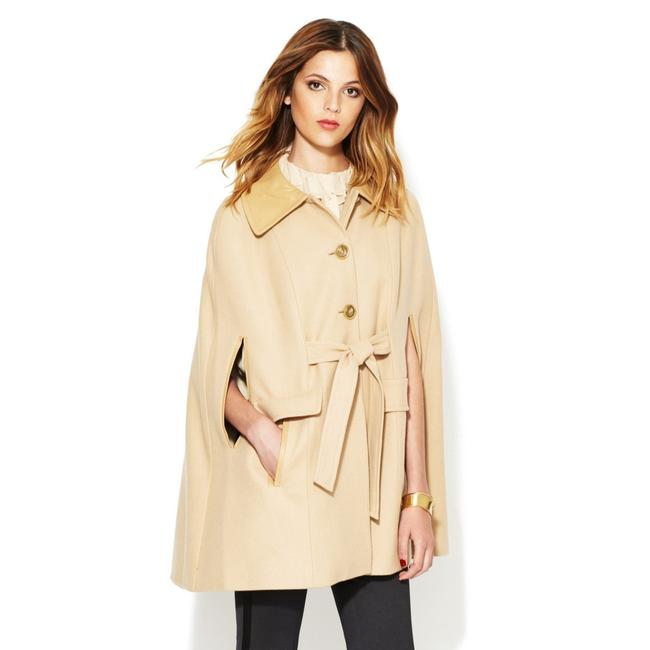 Preload https://img-static.tradesy.com/item/22680264/rachel-zoe-camel-belted-wool-with-leather-trim-ponchocape-size-8-m-0-0-650-650.jpg