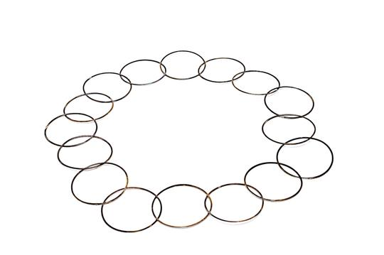 Preload https://img-static.tradesy.com/item/22680303/sterling-silve-2-hoop-chain-necklace-0-0-540-540.jpg