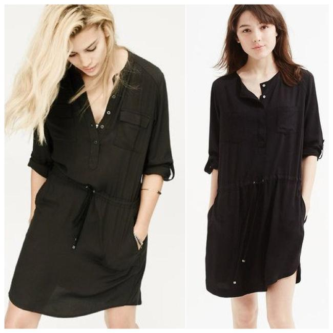 Preload https://img-static.tradesy.com/item/22680363/lou-and-grey-black-drop-waist-button-down-shirtdress-short-casual-dress-size-2-xs-0-0-650-650.jpg