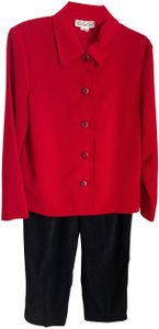 Briggs Briggs Red Jacket / Black Pant Suit