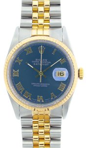 ROLEX 36MM ROLEX DATEJUST GOLD SS WATCH W/ ROLEX BOX & APPRAISAL