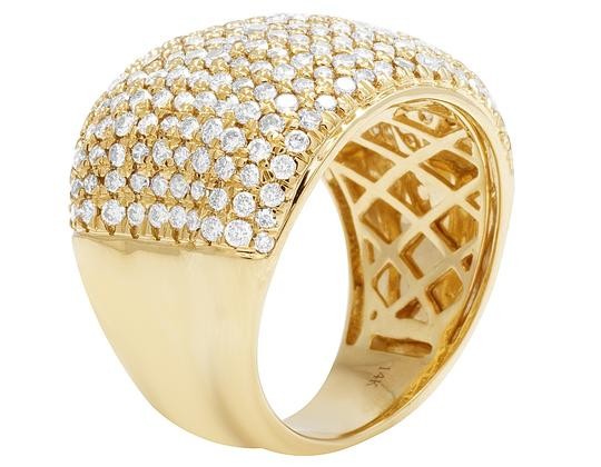 Jewelry Unlimited Men's 14K Yellow Gold Diamond Pinky Ring 3 CT 19MM Image 2