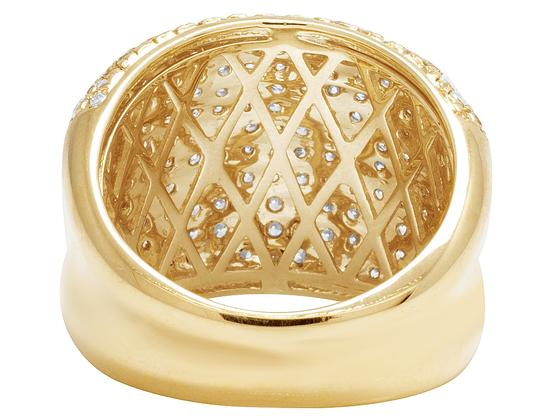 Jewelry Unlimited Men's 14K Yellow Gold Diamond Pinky Ring 3 CT 19MM Image 3
