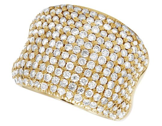 Jewelry Unlimited Men's 14K Yellow Gold Diamond Pinky Ring 3 CT 19MM Image 4