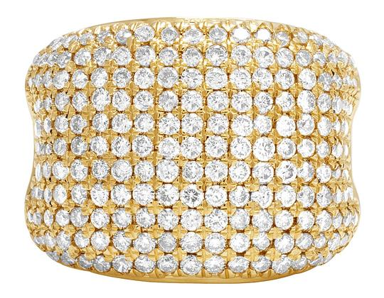Jewelry Unlimited Men's 14K Yellow Gold Diamond Pinky Ring 3 CT 19MM Image 5