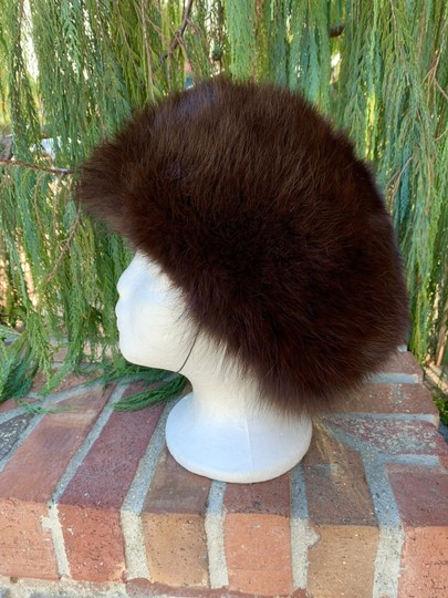 Other Plush Fox Fur Bucket Hat Made in Germany So Dr Zhivago Image 2