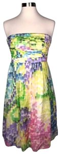 Milly of New York short dress yellow blue multi color on Tradesy