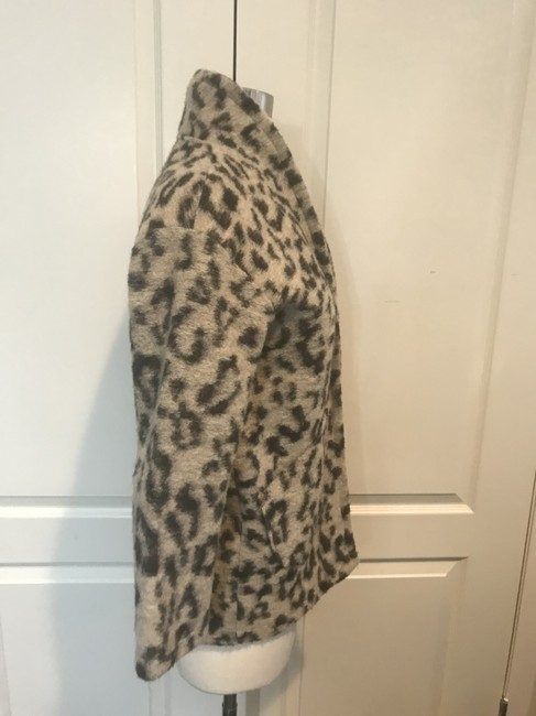 Zara Girls Cotton Blend LEOPARD PRINT Jacket Image 2