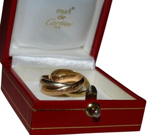 Cartier Cartier Trinity 18K/750 Tri-color Rolling Ring Size 52/US6.5