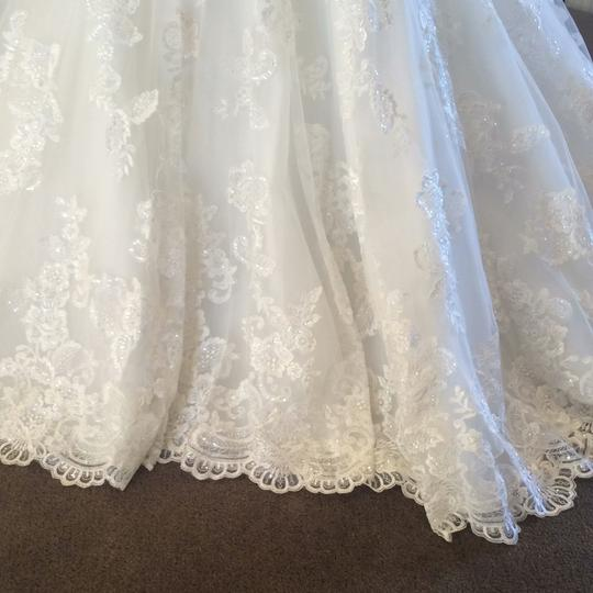 Allure Bridals Ivory Lace 9018 Formal Wedding Dress Size 16 (XL, Plus 0x) Image 1