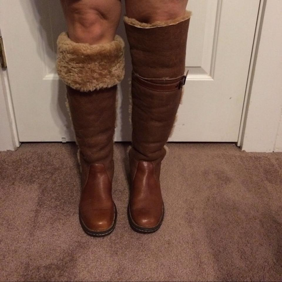 337186d4187 Børn Tan Brown Oakdale Shearling Twice Boots Booties Size US 7 ...