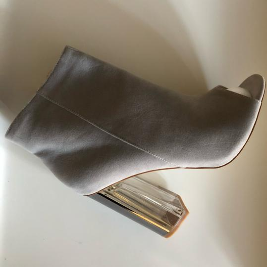 SIMMI LONDON Perspex Peep Toe GRAY Boots Image 1