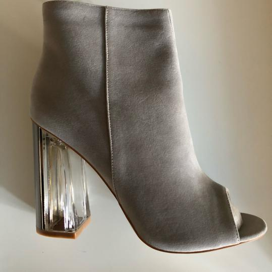 SIMMI LONDON Perspex Peep Toe GRAY Boots Image 2