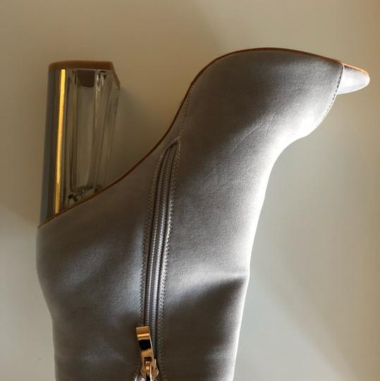 SIMMI LONDON Perspex Peep Toe GRAY Boots Image 4