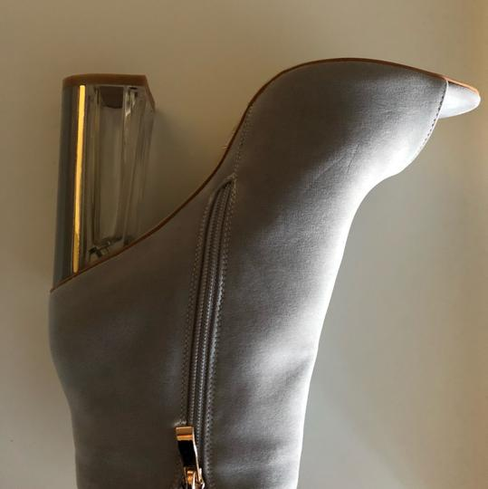 SIMMI LONDON Perspex Peep Toe GRAY Boots Image 5