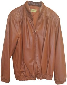 Carla Vintage 80's Disco Burnt Orange Leather Jacket