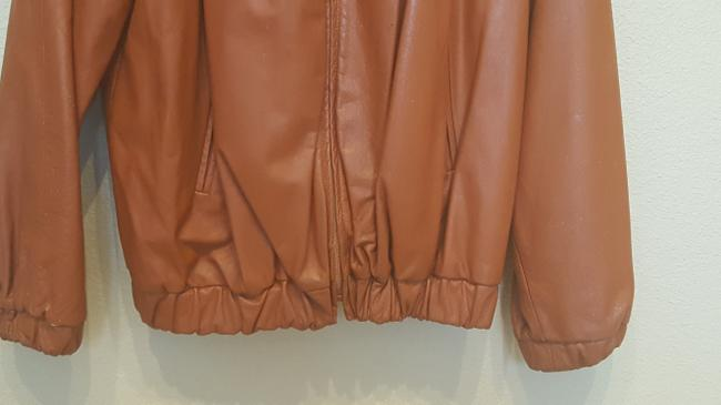 Carla Vintage 80's Disco Burnt Orange Leather Jacket Image 1