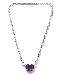 Judith Ripka Judith Ripka Sterling Necklace with Amethyst Pendant Necklace