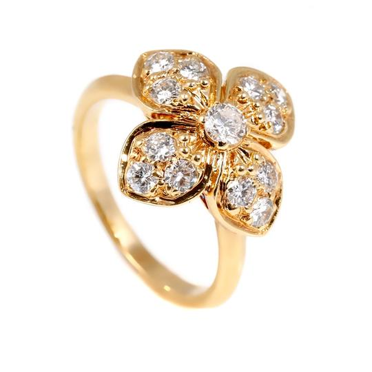 Van Cleef & Arpels Van Cleef & Arpels Diamond Gold Flower Ring Image 1
