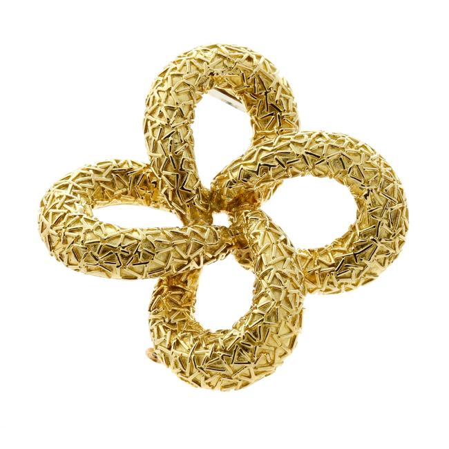 Item - Yellow Gold Brooch Pendant Necklace
