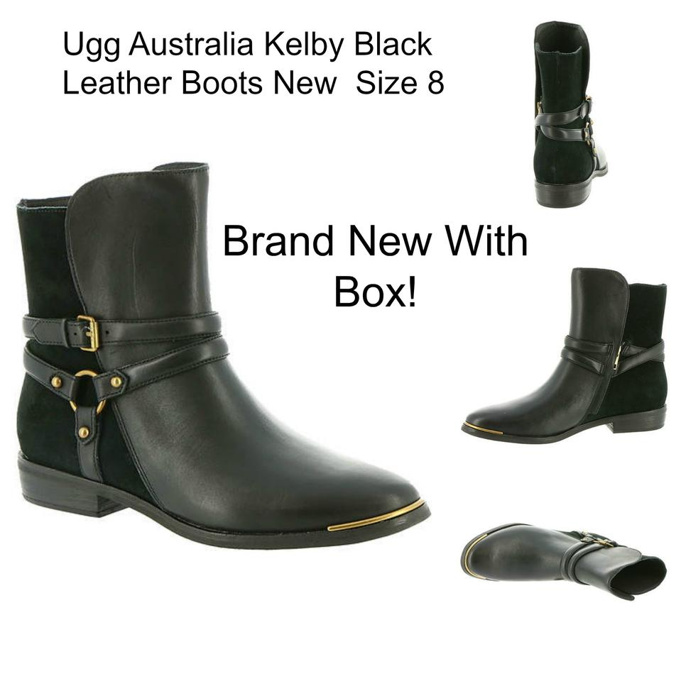 402402f7927 UGG Australia Black Leather Kelby Boots/Booties Size US 8 Regular (M, B)  30% off retail