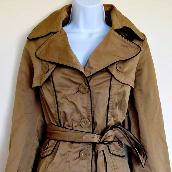 Lucid Classic Fawn Shiny Trench Coat Image 1