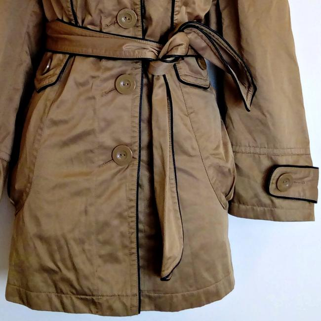 Lucid Classic Fawn Shiny Trench Coat Image 2