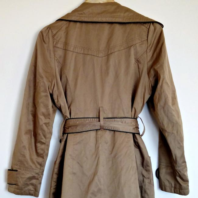 Lucid Classic Fawn Shiny Trench Coat Image 4