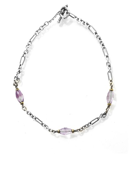 Preload https://img-static.tradesy.com/item/22681405/david-yurman-sterling-18k-yellow-gold-and-pink-faceted-stone-necklace-0-0-540-540.jpg