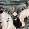 Sophie Paris Distressed Cowhide Print Size 3 Relaxed Fit Jeans-Distressed Image 3