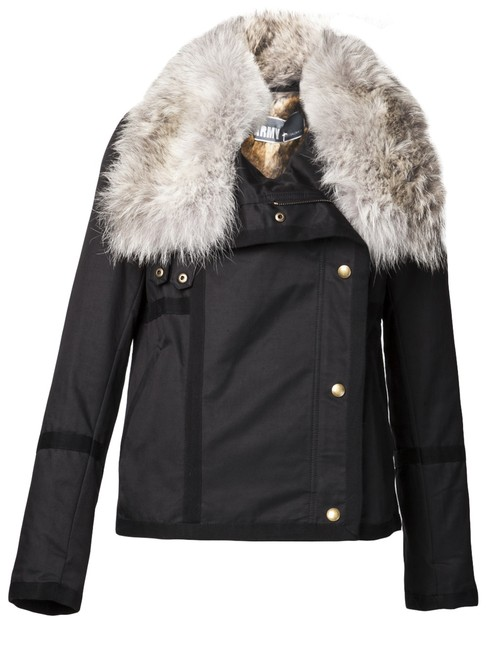 Army by Yves Salomon Fur Parka Made In France Coat Image 1