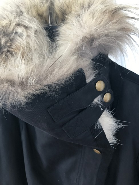 Army by Yves Salomon Fur Parka Made In France Coat Image 6