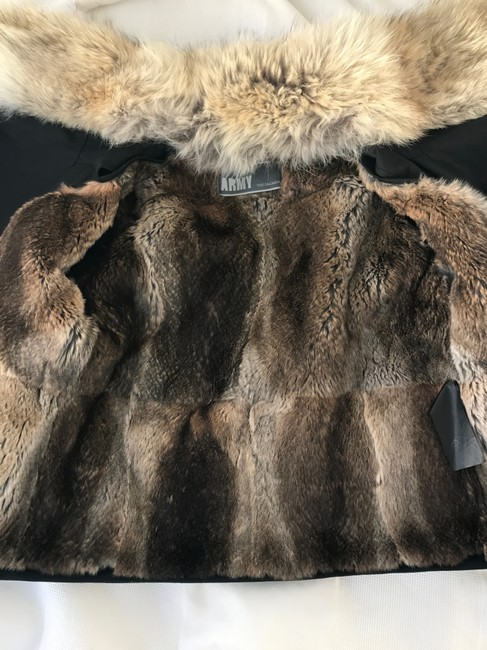 Army by Yves Salomon Fur Parka Made In France Coat Image 7