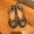 Betsey Johnson gray and brown snakeskin Flats Image 1