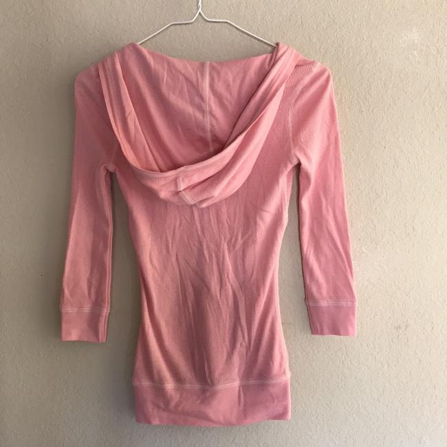 Abercrombie & Fitch 3/4 Sleeve V Neck Hood Top pink Image 1